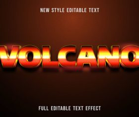 Volcano editable text effect vector