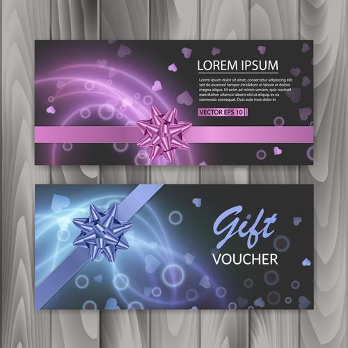 Voucher gift certificate banner vector
