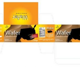 Wafer packaging design vector