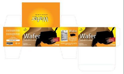 Wafer packaging design vector