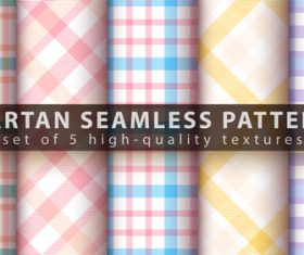 Warm colors tartan seamless pattern vector