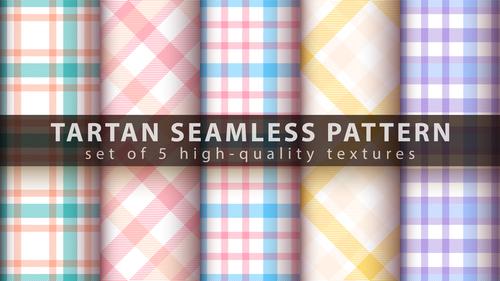 Warm colors tartan seamless pattern vector