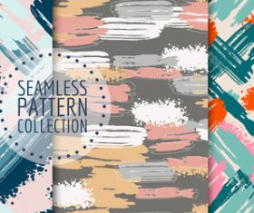 Watercolor doodle hand drawn seamless pattern vector