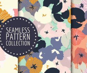 Watercolor flowers hand drawn seamless pattern vector