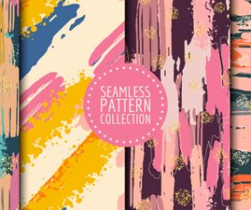 Watercolor hand drawn seamless pattern vector
