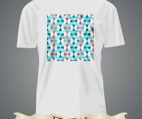 Wave pattern t-shirts prints design vector