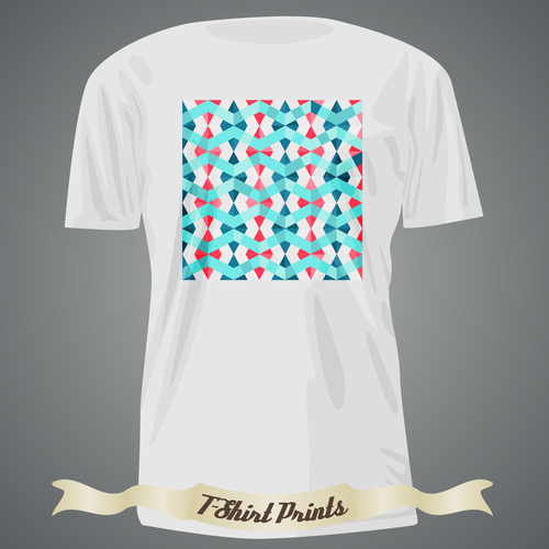 Wave pattern t shirts prints design vector