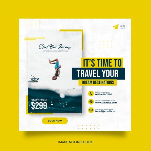 We are happy to travel vector