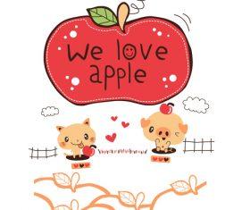 We love apple vector
