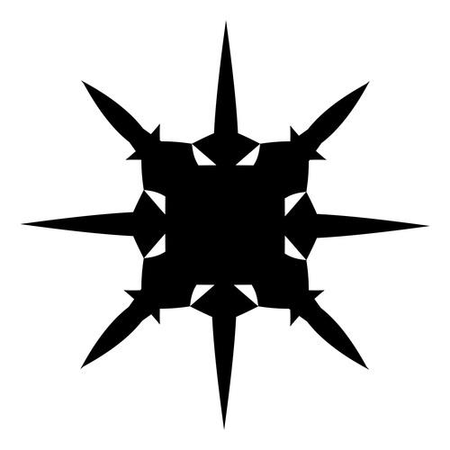 Weapon geometric black watercolor painting vector