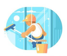 Window washer vector