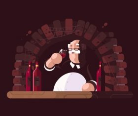 Wine lovers cartoon illustration vector