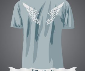 Wings T-Shirts prints design vector