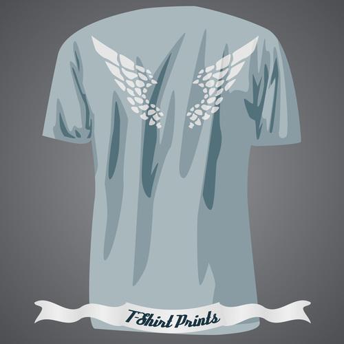Wings T Shirts prints design vector