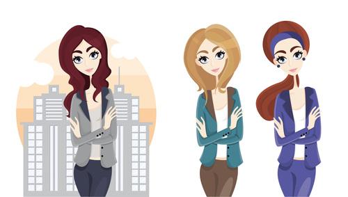 Work city cartoon illustration vector