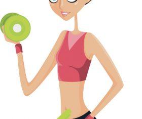 Workout cartoon illustration vector