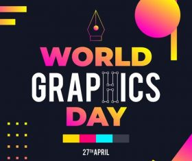 World Graphic day vector