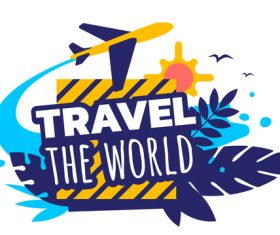 World travel illustration vector
