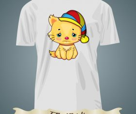 Wronged kitten t-shirts prints design vector