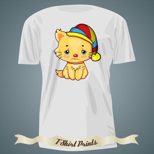 Wronged kitten t shirts prints design vector