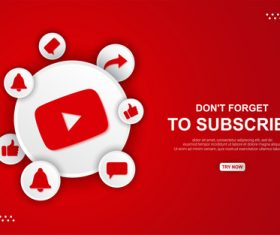 Youtube button icon vector