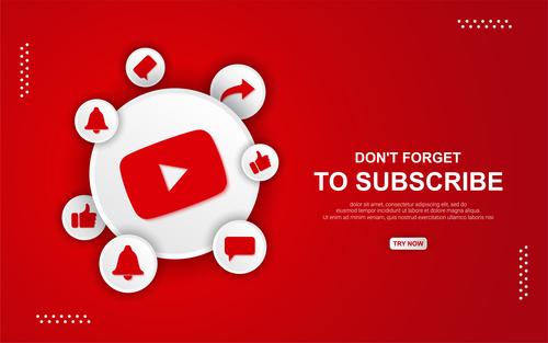 Youtube button icon vector