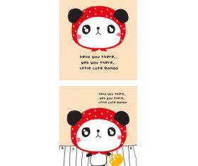 panda going to market doodle vector