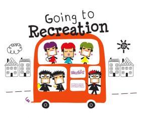 recreation bus cartoon doodle vector