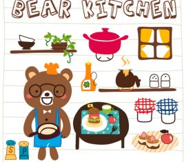 uncle bear in the kitchen doodle cartoon