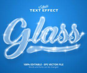 3d crystal effect text design vector