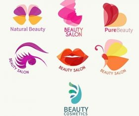Abstract Beauty logo collection vector