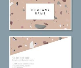 Abstract background business card vector