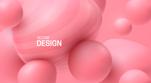 Abstract background vector of pink sphere