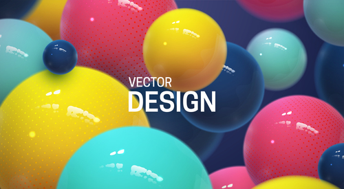 Abstract colorful balls background vector