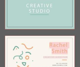 Abstract people background business card vector