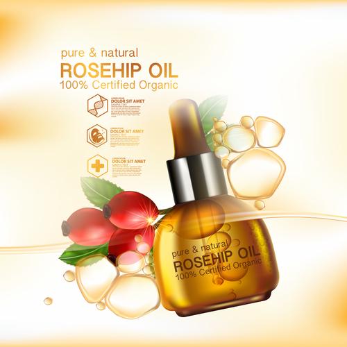Advanced plant essence cosmetics vector