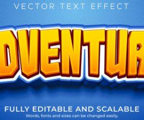 Adventure font editable font vector