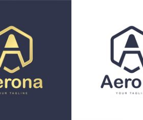 Aerona business logo design vector