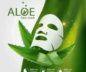 Aloe mask vector