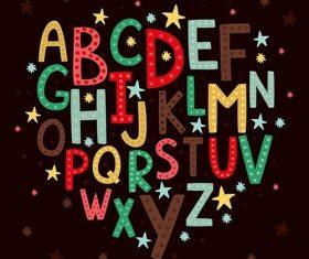 Alphabet children vector