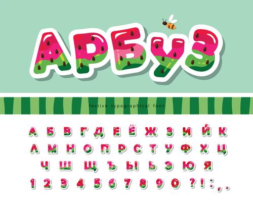 Alphabet editable font effect vector