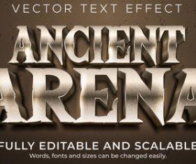 Ancient arena font editable font vector