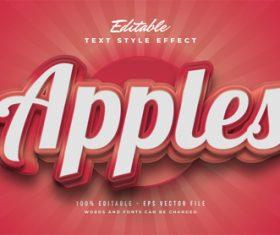 Apples editable font vector