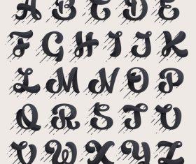 Art alphabet decoration design vector