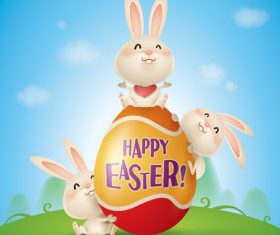 Awesome Easter greeting card vector