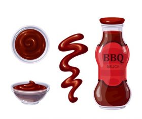 BBQ sauce icons for design vector