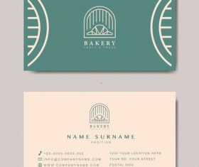 Bakery business card vector