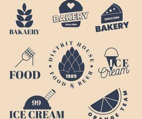 Bakery summer sweets logo vector