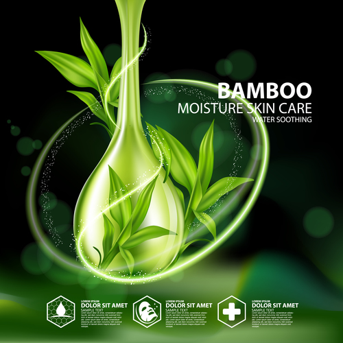 Bamboo extract essence vector