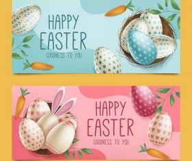 Banner easter greeting card vector